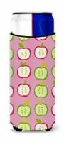 Apples on Pink Michelob Ultra Hugger for slim cans - Slim Can
