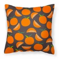 Carolines Treasures  BB5142PW1414 Oranges on Gray Fabric Decorative Pillow