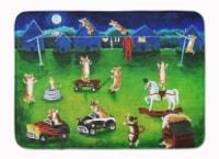 Corgi Backyard Circus Machine Washable Memory Foam Mat