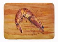 "Carolines Treasures  8140-RUG Shrimp Machine Washable Memory Foam Mat - 19 X 27"""
