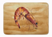 "Carolines Treasures  8161-RUG Shrimp Machine Washable Memory Foam Mat - 19 X 27"""
