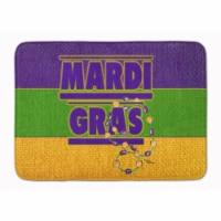 "Carolines Treasures  8388RUG Mardi Gras Machine Washable Memory Foam Mat - 19 X 27"""