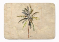 Carolines Treasures  8482RUG Palm Tree Machine Washable Memory Foam Mat