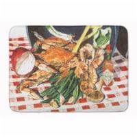 """Carolines Treasures  8537RUG Crab Boil Machine Washable Memory Foam Mat - 19 X 27"""""""