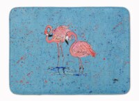"Carolines Treasures  8566-RUG Flamingo Machine Washable Memory Foam Mat - 19 X 27"""