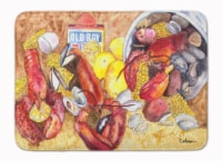 """Lobster with Old Bay Machine Washable Memory Foam Mat - 19 X 27"""""""
