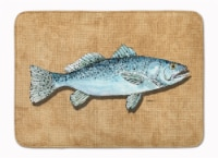 "Carolines Treasures  8809RUG Speckled Trout Machine Washable Memory Foam Mat - 19 X 27"""