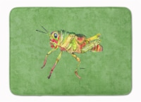Grasshopper on Avacado Machine Washable Memory Foam Mat