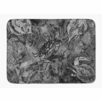 """Grey Canvas Abstract Crabs Machine Washable Memory Foam Mat - 19 X 27"""""""
