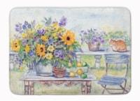 "Patio Bouquet of Flowers Machine Washable Memory Foam Mat - 19 X 27"""