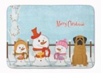 Merry Christmas Carolers Mastiff Machine Washable Memory Foam Mat