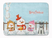 Merry Christmas Carolers Miniature Schanuzer Salt and Pepper Machine Washable Me