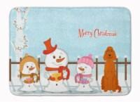 Merry Christmas Carolers Irish Setter Machine Washable Memory Foam Mat