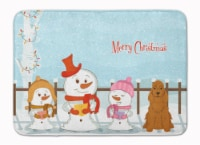 Merry Christmas Carolers Cocker Spaniel Red Machine Washable Memory Foam Mat