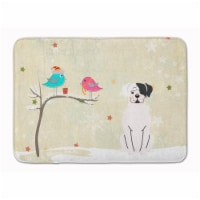 """Christmas Presents between Friends White Boxer Cooper Machine Washable Memory Fo - 19 X 27"""""""