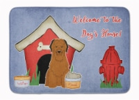 Dog House Collection Briard Brown Machine Washable Memory Foam Mat