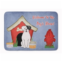 """Dog House Collection White Boxer Cooper Machine Washable Memory Foam Mat - 19 X 27"""""""