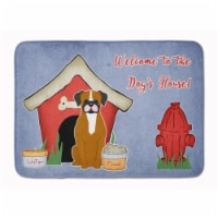 """Dog House Collection Flashy Fawn Boxer Machine Washable Memory Foam Mat - 19 X 27"""""""