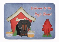 "Dog House Collection Dachshund Black Tan Machine Washable Memory Foam Mat - 19 X 27"""