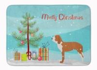 Spanish Hound Merry Christmas Tree Machine Washable Memory Foam Mat