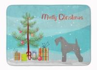 Kerry Blue Terrier Merry Christmas Tree Machine Washable Memory Foam Mat