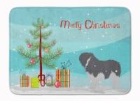 Polish Lowland Sheepdog Dog Merry Christmas Tree Machine Washable Memory Foam Ma