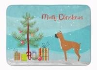 "Boxer Merry Christmas Tree Machine Washable Memory Foam Mat - 19 X 27"""
