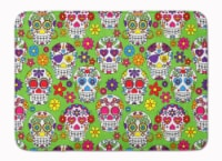 """Day of the Dead Green Machine Washable Memory Foam Mat - 19 X 27"""""""