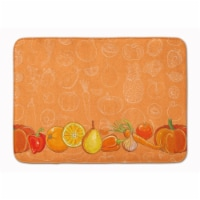 """Fruits and Vegetables in Orange Machine Washable Memory Foam Mat - 19 X 27"""""""