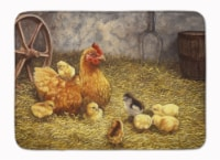 Chicken Hen and Her Chicks Machine Washable Memory Foam Mat