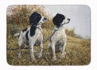 "Two Springer Spaniels by Michael Herring Machine Washable Memory Foam Mat - 19 X 27"""