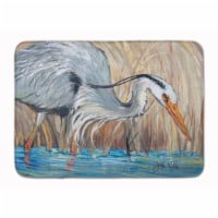 """Blue Heron in the reeds Machine Washable Memory Foam Mat - 19 X 27"""""""