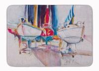 "Sailboats in Dry Dock Machine Washable Memory Foam Mat - 19 X 27"""