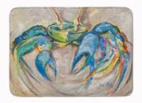 "Carolines Treasures  JMK1089RUG Blue Crab Machine Washable Memory Foam Mat - 19 X 27"""