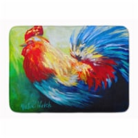 """Bird - Rooster Chief Big Feathers Machine Washable Memory Foam Mat - 19 X 27"""""""