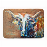 """On the Loose Brown Cow Machine Washable Memory Foam Mat - 19 X 27"""""""