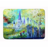 """St Louis Cathedrial Across the Square Machine Washable Memory Foam Mat - 19 X 27"""""""