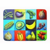 """Mixed Fruits and Vegetables Machine Washable Memory Foam Mat - 19 X 27"""""""
