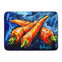 """Carrots Only Three Needed Machine Washable Memory Foam Mat - 19 X 27"""""""