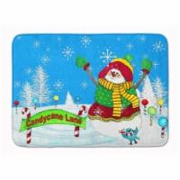 "Candy Cane Lane Snowman Machine Washable Memory Foam Mat - 19 X 27"""