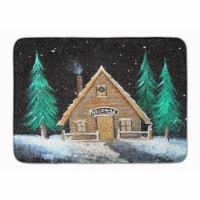 "Welcome Lodge Christmas Log Home Machine Washable Memory Foam Mat - 19 X 27"""