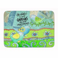 """The World is but a Canvas to our Imagination Machine Washable Memory Foam Mat - 19 X 27"""""""