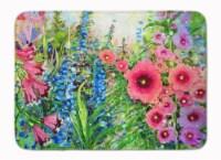 "Easter Garden Springtime Flowers Machine Washable Memory Foam Mat - 19 X 27"""