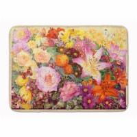 "Autumn Floral by Anne Searle Machine Washable Memory Foam Mat - 19 X 27"""