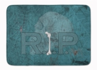"""RIP Rest in Peace with spider web Halloween Machine Washable Memory Foam Mat - 19 X 27"""""""