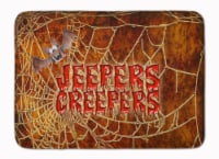Jeepers Creepers with Bat and Spider web Halloween Machine Washable Memory Foam