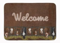 Welcome Mat with Cows Machine Washable Memory Foam Mat