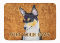 Toy Fox Terrier Wipe your Paws Machine Washable Memory Foam Mat