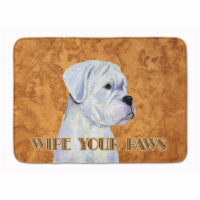 """White Boxer Wipe your Paws Machine Washable Memory Foam Mat - 19 X 27"""""""
