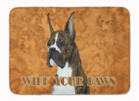 """Brindle Boxer Wipe your Paws Machine Washable Memory Foam Mat - 19 X 27"""""""